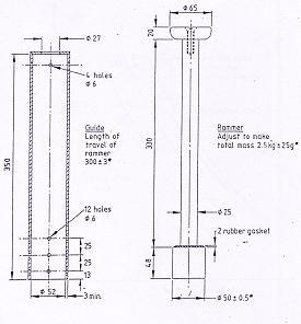 Standard Proctor Rammer 2.5kg