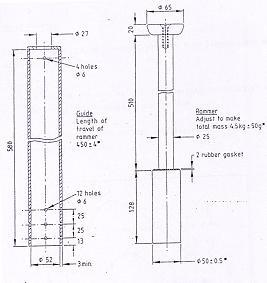 Standard Proctor Rammer - 4.5kg